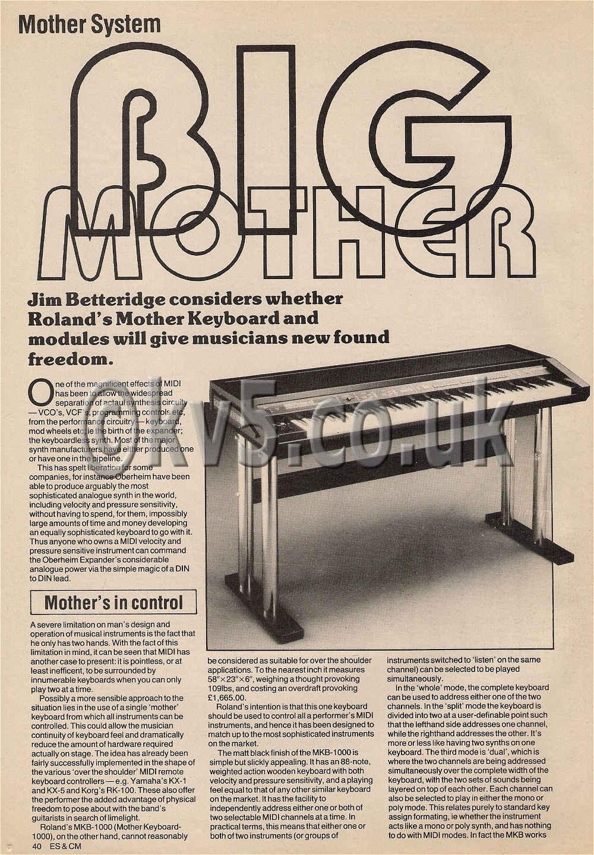roland mkb 1000 mother keyboard
