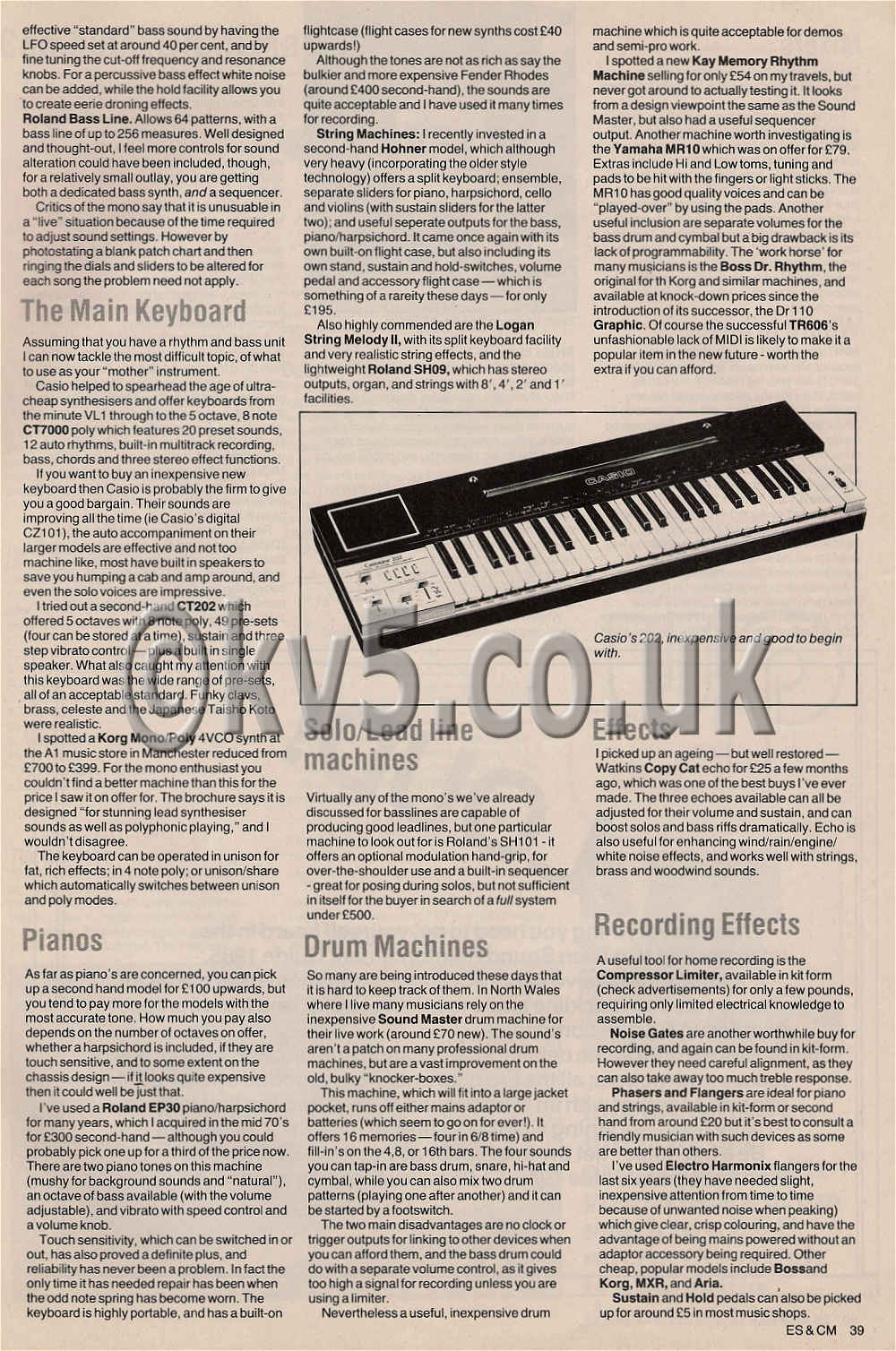 1985 Synthesizers