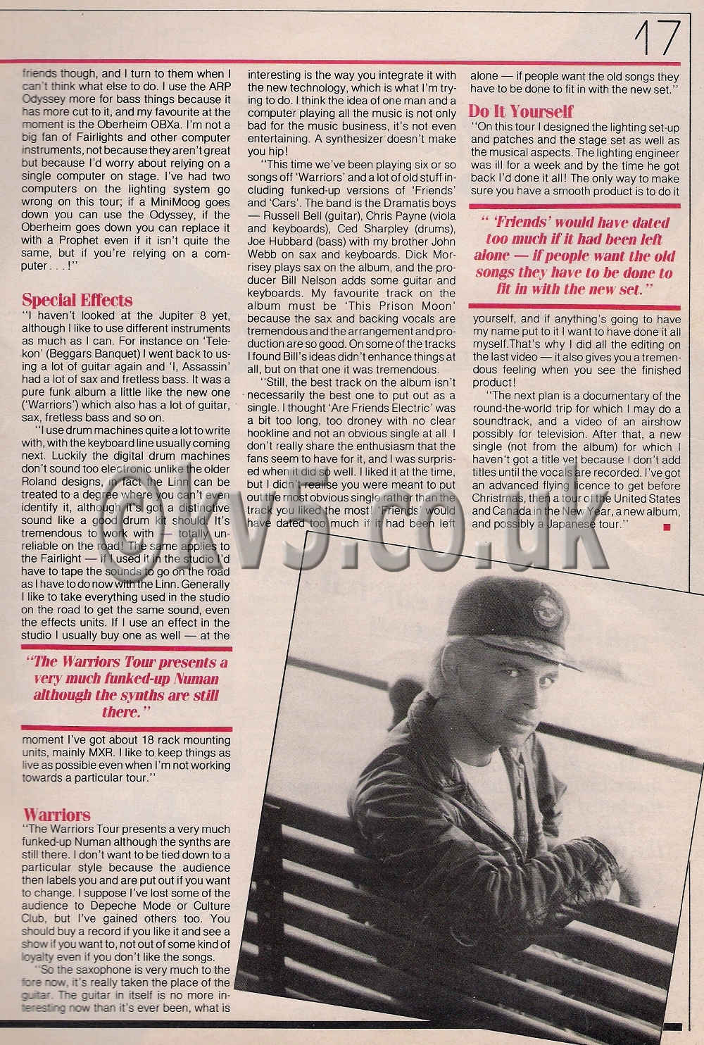 Gary Numan Interview 1983