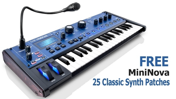 MiniNova FREE 25 Classic Synth Patches